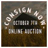 Consignments For October 7th, 2020 Auction