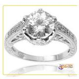 Oval Solitaire Ring SZ 6