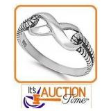 Infinity Knot .925 Solid Silver SZ8