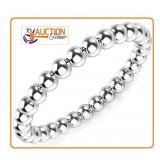 Solid Silver Ring SIZE 5 ball style 2MM