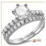 Round 2Ct Solitaire Wedding Set .925 Silver