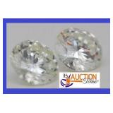 Pair Round White I color Loose Sapphires 8MM