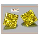 Topaz One Pair Matched - 2 CT Each 4CT Total
