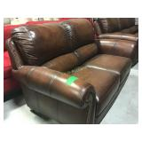 Couch Brown Faux Leather