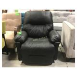 Recliner, Black Faux Leather