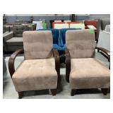 2 Beige Chairs