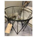Table, Black w/Glass Top