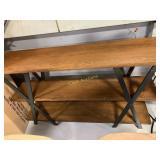 Side Table, Brown w/Black Legs