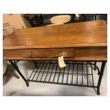 Wine Rack Table, Wood Finish