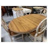 5 pc Dining Set w/Leaf, Oak Veneer