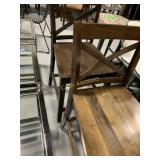 2 Wood Bar Stools