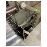 Mirrored Plant Stand w/3 Shelves
