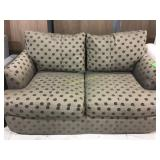 Brown polkadot Klaussner Couch