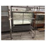 Wire rack 48 inches wide lower shelf not attached