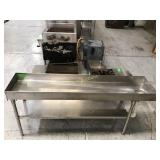 75 inch wide stainless steel vath  with drain and