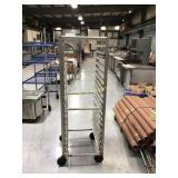 Tray rack on wheels