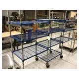104 inch three section wire rack on wheels