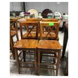 4 wood barstools scrapes and scratches