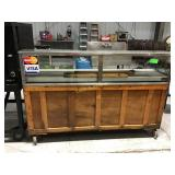 73 inch wide service counter with hot plate and