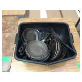 Large lot of small frying pans