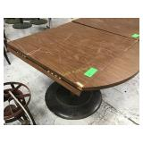 """36"""" x 36"""" convertible table with scrapes"""