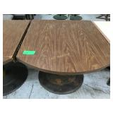 36 inch by 36 inch convertible table with scrapes