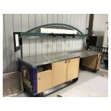 11 foot service counter on wheels