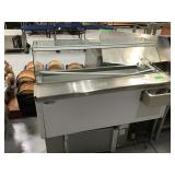 Artica 118 ice cream dipping cabinet on wheels,