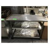 """24"""" x 48"""" stainless steel top worktable with"""