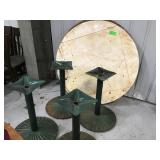 2 -48 inch round table tops with four bases