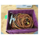 Bin of extension cords