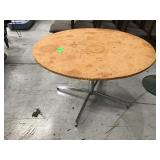 48 inch round table with chrome legs