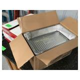 Box of full-size steam table foil pans