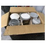 Partial box of 7 inch foil round pans with lids
