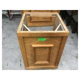 25 inch wide by 25 1/2 inch deep oak counter no