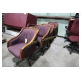 Office chairs (2 w/casters, 2 stationary)