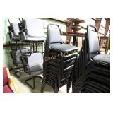Stacking chairs - Black