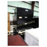 Lot:  Four lateral file cabinets - metal -