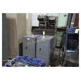 Lot:  Five tool cabinets - metal