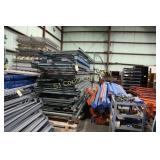 Sections of pallet rack