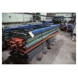 Sections of pallet rack w/ wire decking