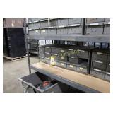 18 drawer metal parts cabinet w/ contents