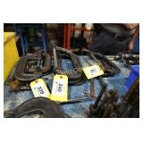 "Lot:  3 ""C"" clamps - 8"""