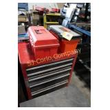 Lot:  Rolling tool box and 2 plastic portable