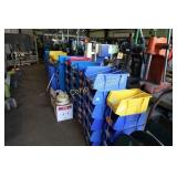 Lot: Stack bins - plastic - various sizes