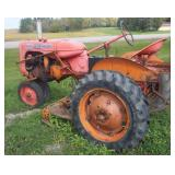Allis Chalmers C With Woods Belly Mower
