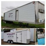 1995 DORSEY 48' SEMI VAN TRAILER W/SHELVING AND NEAR NEW TIRES