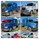 (9) Semi Trucks, (4) Reefer Trailers, Miller 225 Welder and New OS Ford Parts
