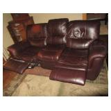 Leather Reclining Couch - 84x32x38