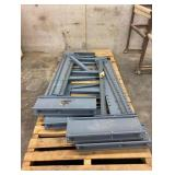 """(4) 95"""" Tall x 38"""" Deep Cantilever Up Right With (14) 24"""" Arms And (4) Stabilizer Bars"""